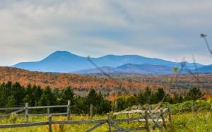 Autumn in Mount with Mount Katahdin in background (photo taken by Greg Clark)