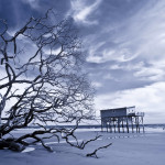 http://www.dreamstime.com/stock-photography-infrared-shot-house-stilts-standing-alone-storm-image29757382